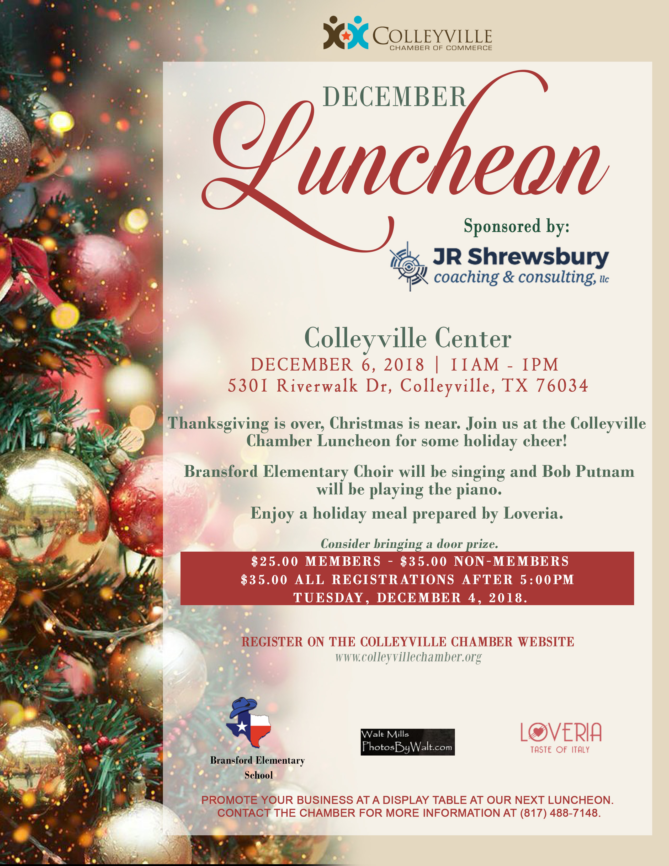 December Monthly Luncheon Flyer