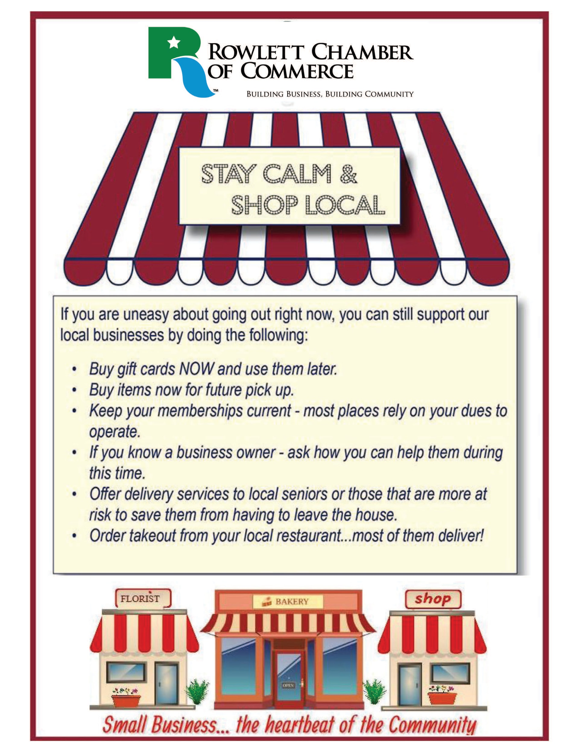 Support Local Business - Stay Calm & Shop Local