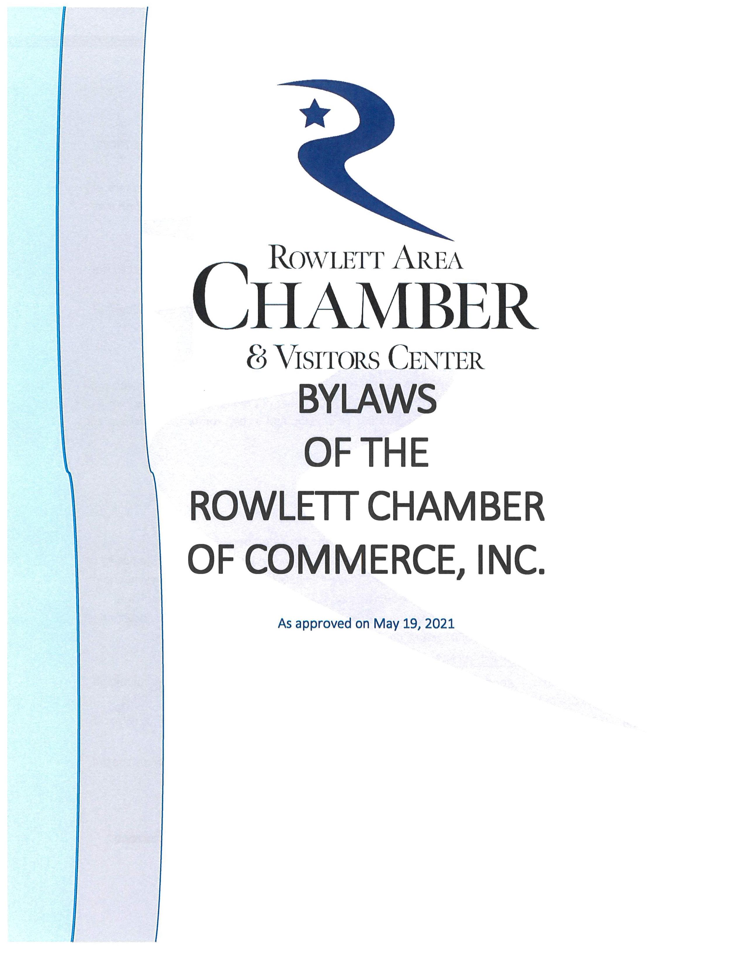 Rowlett Area Chamber Bylaws