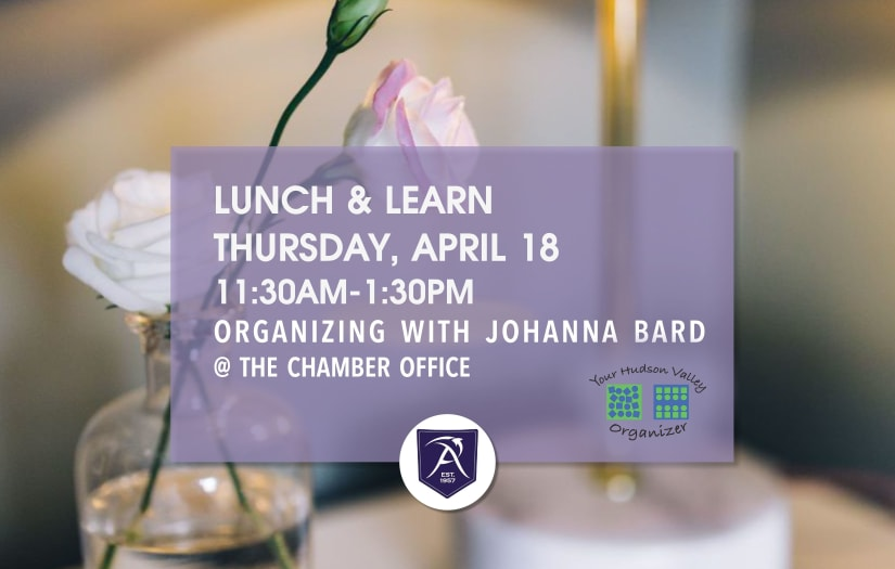 April Lunch & Learn 4/18 11:30-1:30 with Johanna Bard of Your Hudson Valley Organizing