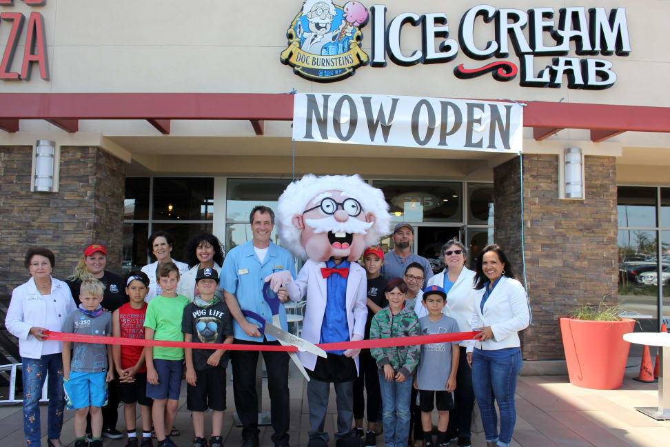 Santa Maria Chamber Ribbon Cutting Doc Burnsteins Ice Cream