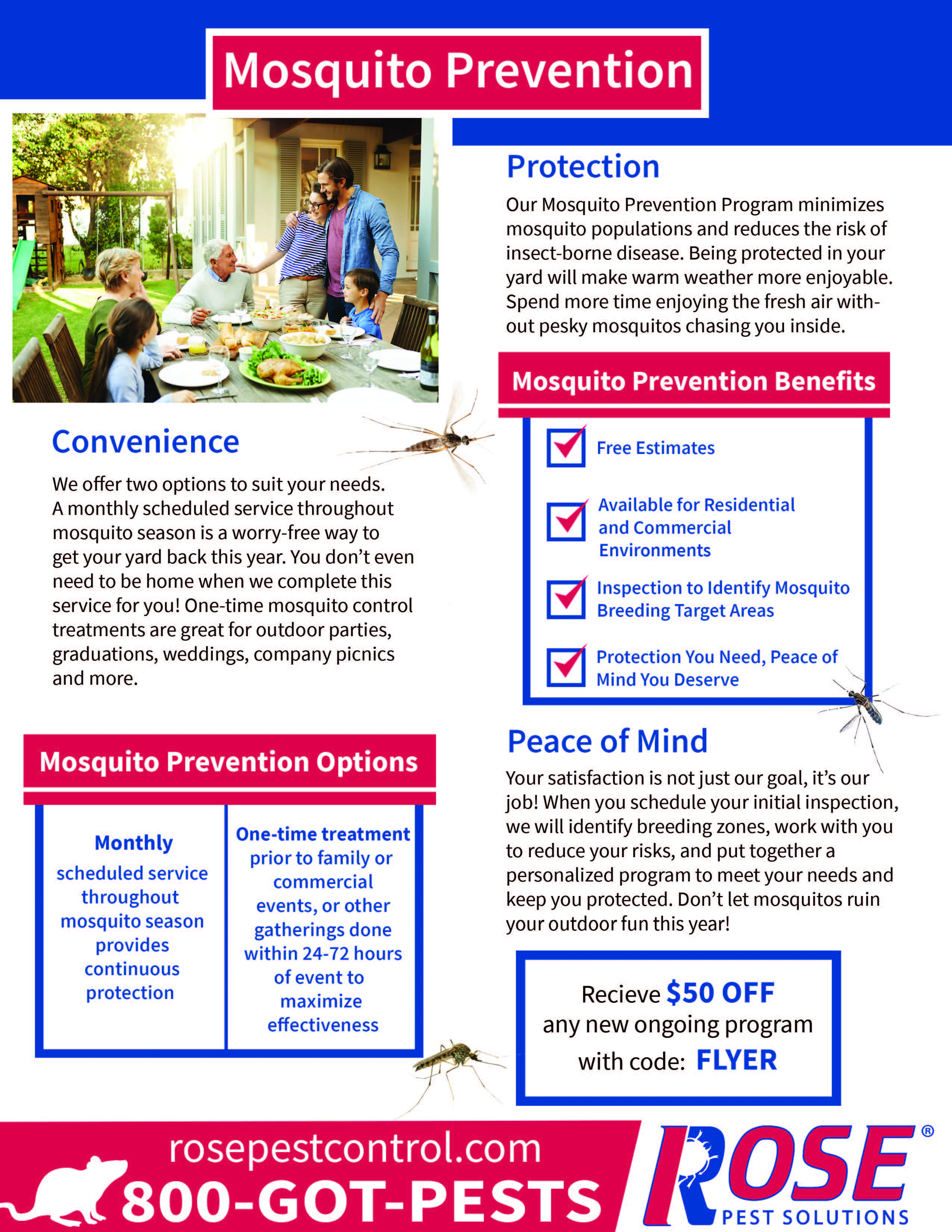 Rose Pest Solutions Mosquito Prevention Hot Deal Glmv