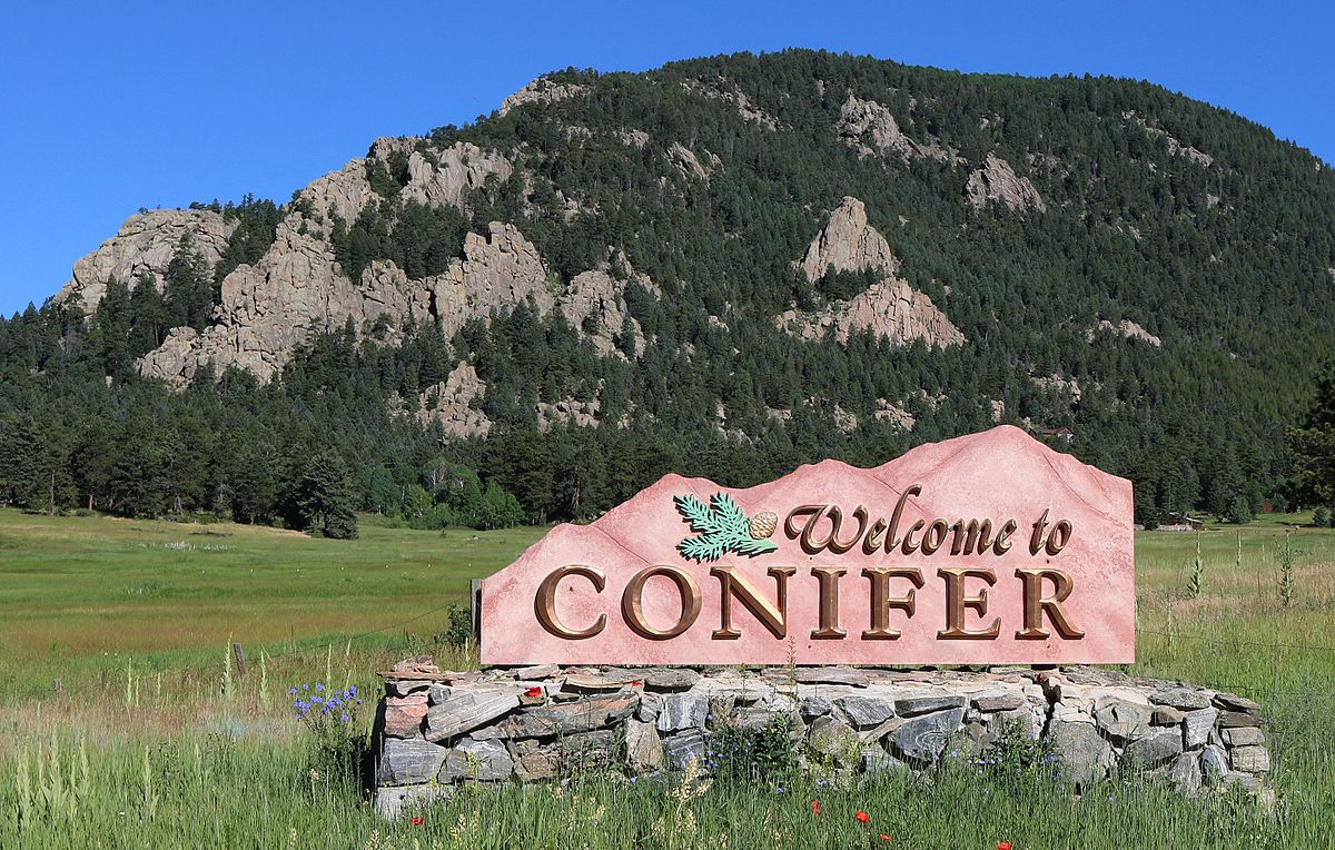 Conifer CO Welcome Sign