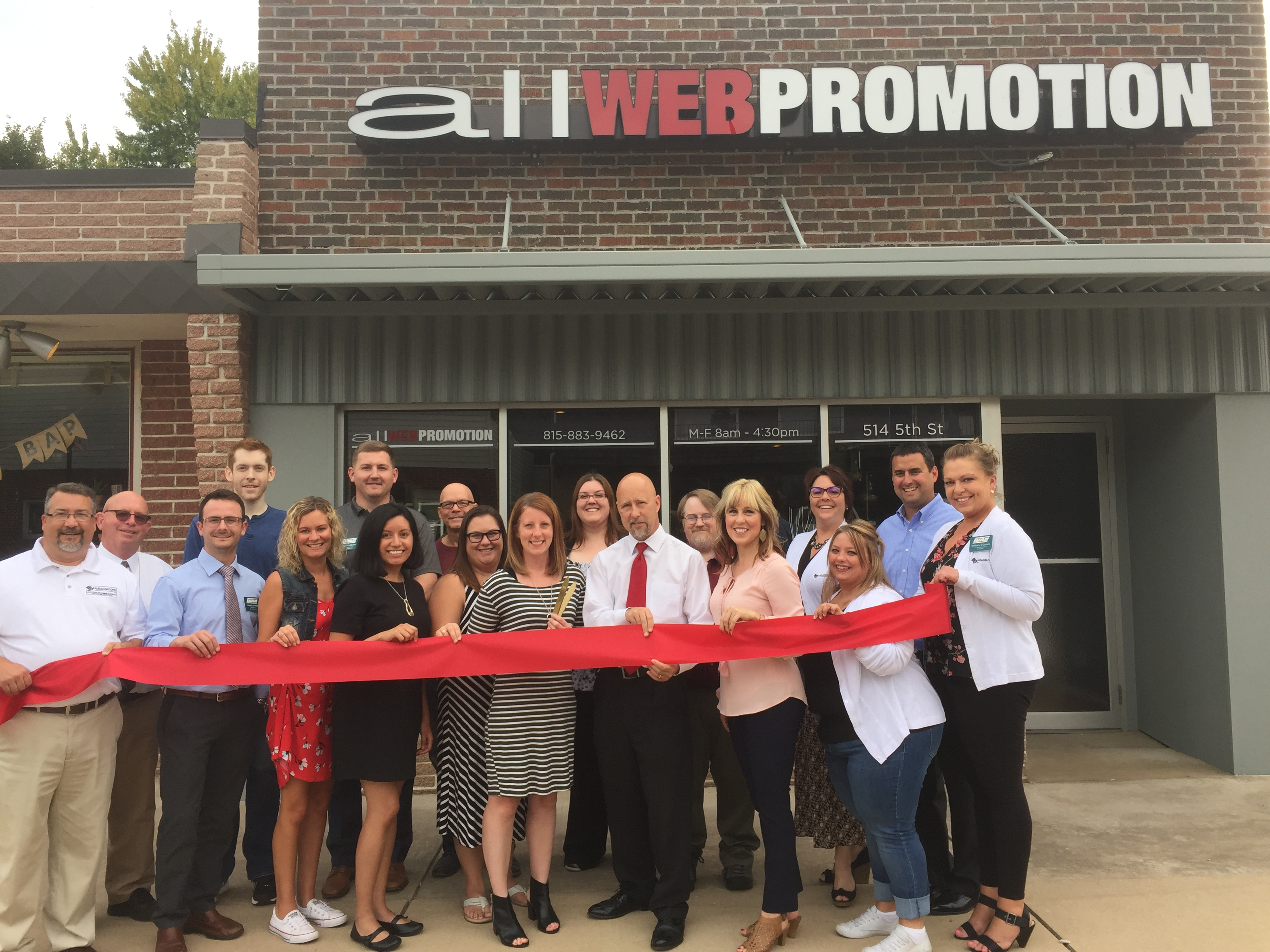 All Web Promotion Ribbon Cutting