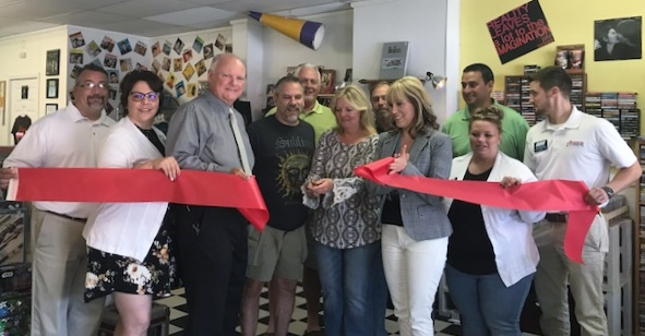 Groovy Dog Record Ribbon Cutting