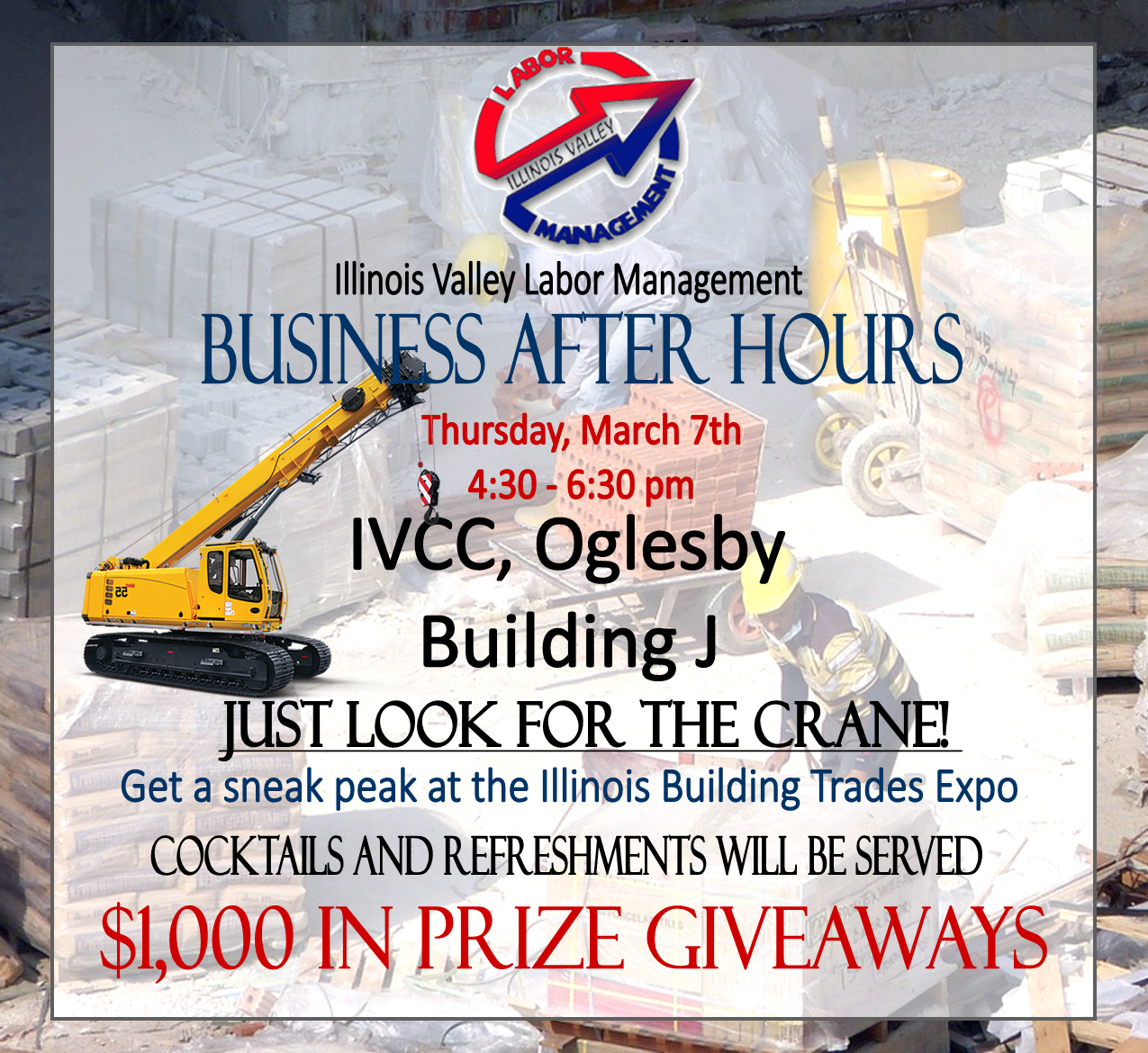 IV Contractors After Hour Event Flyer
