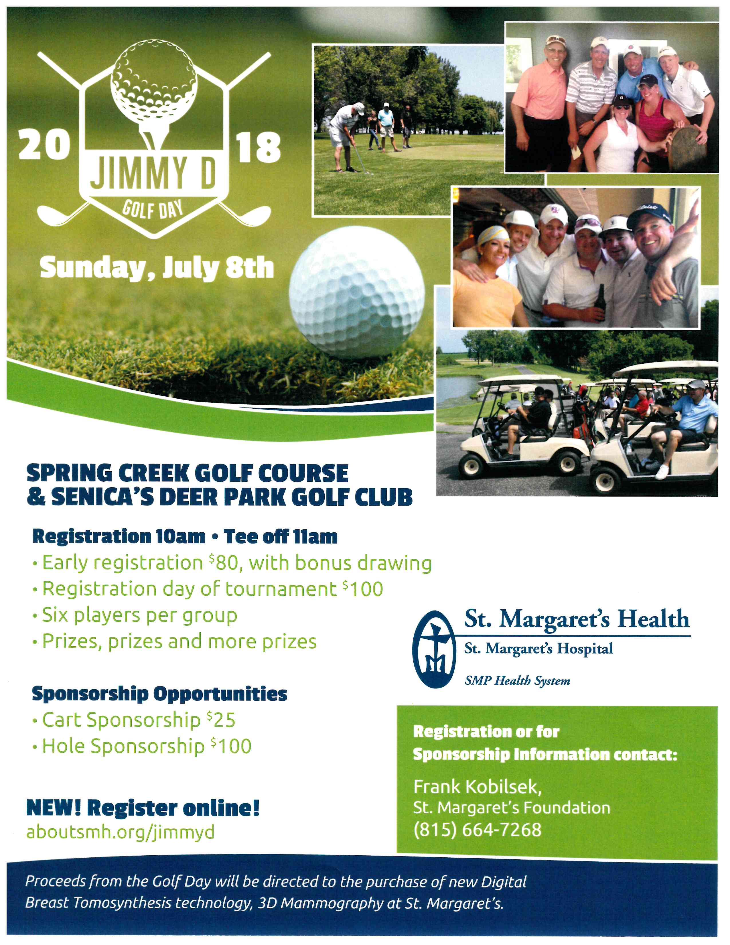 Jimmy D Golf Day Flyer