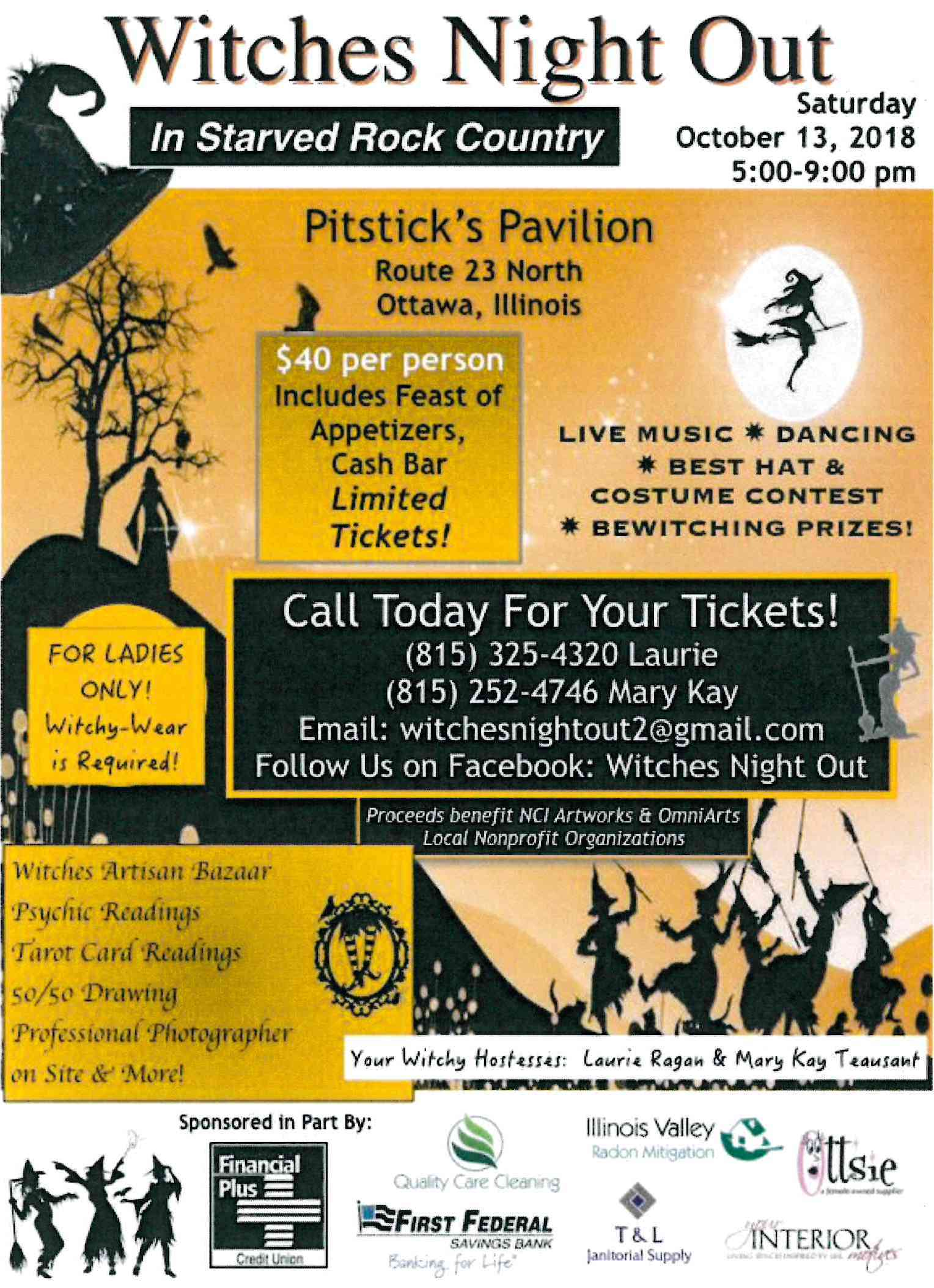 Witches Night Out Event Flyer