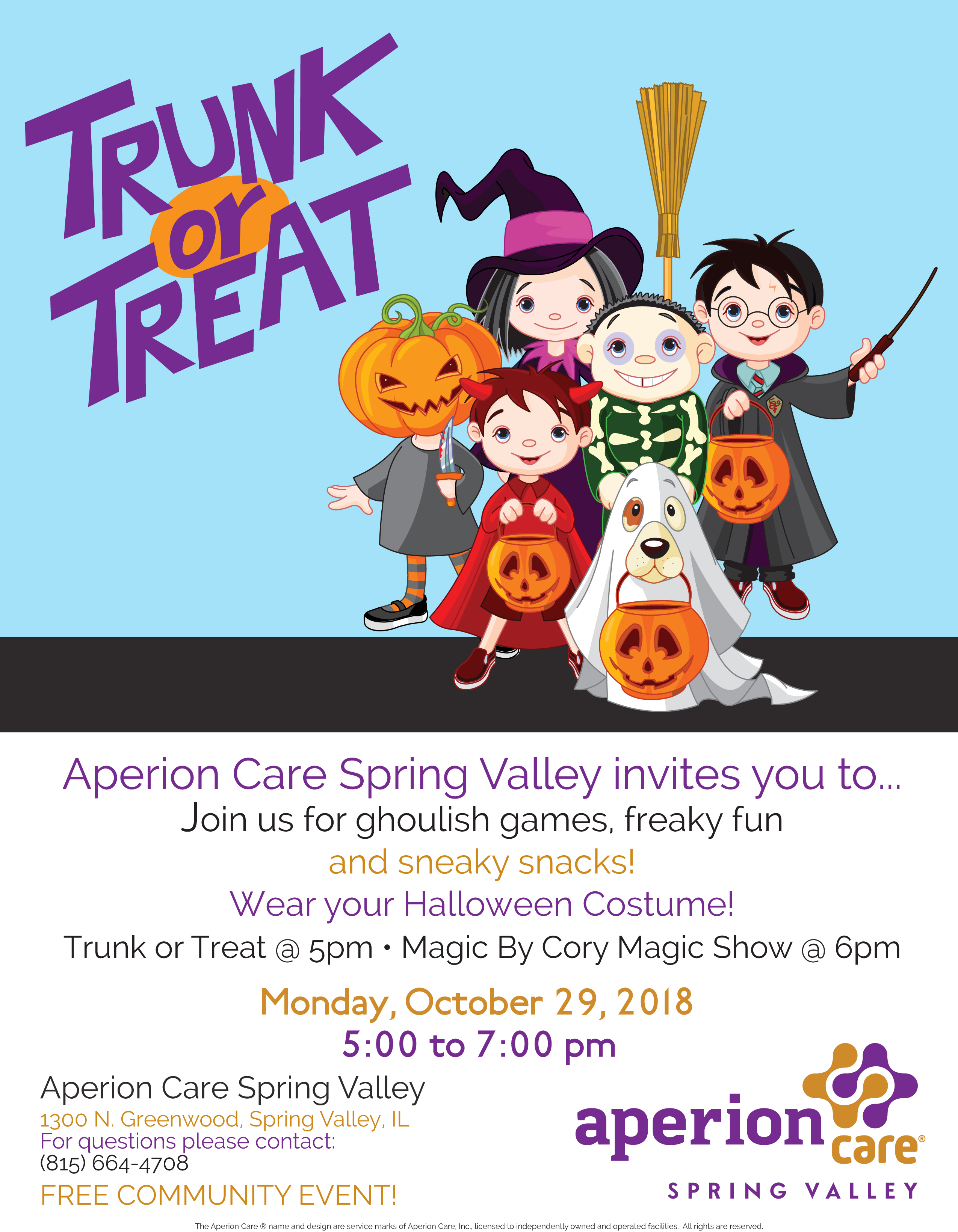 Trunk or Treat Event at Aperion