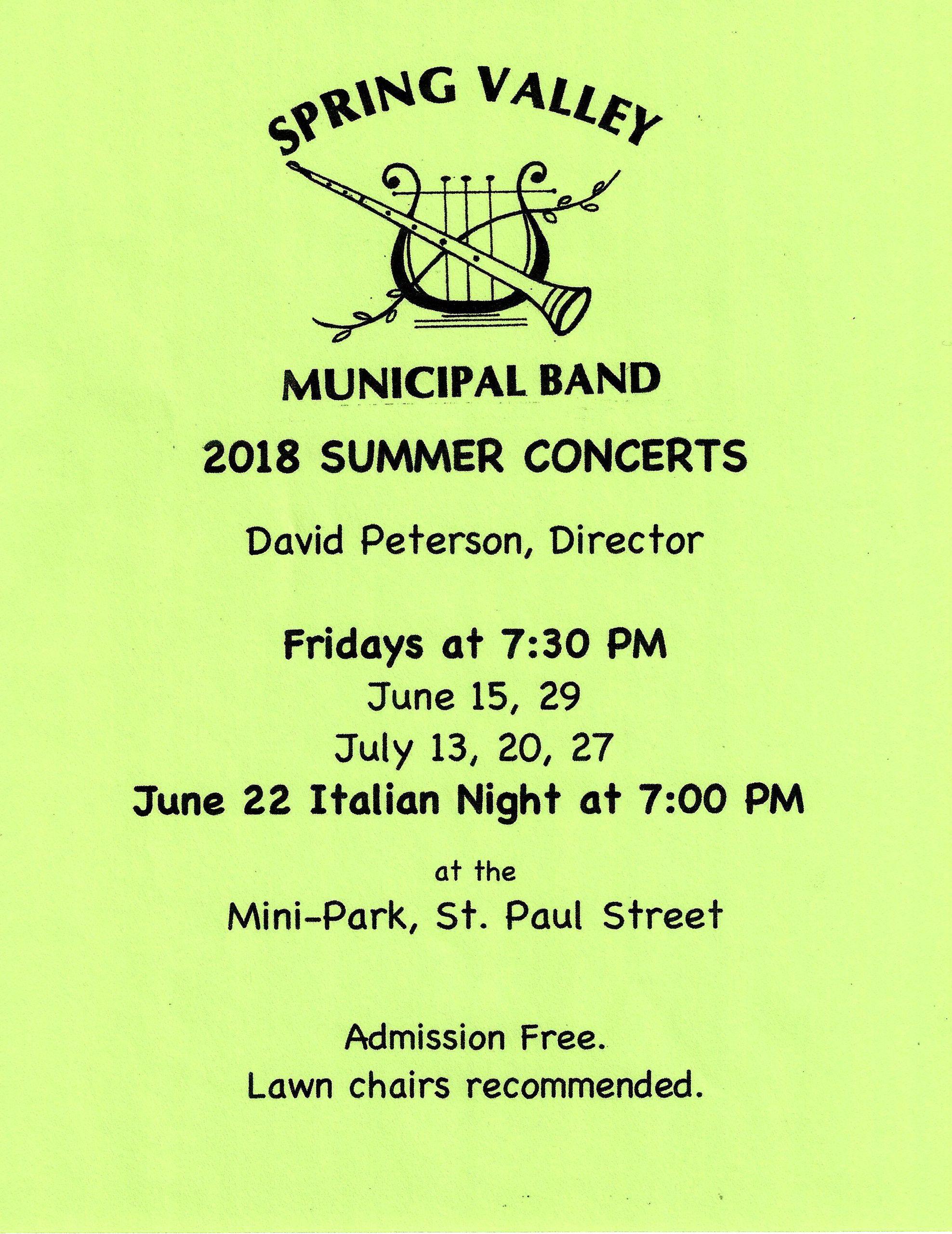 summer concert flyer