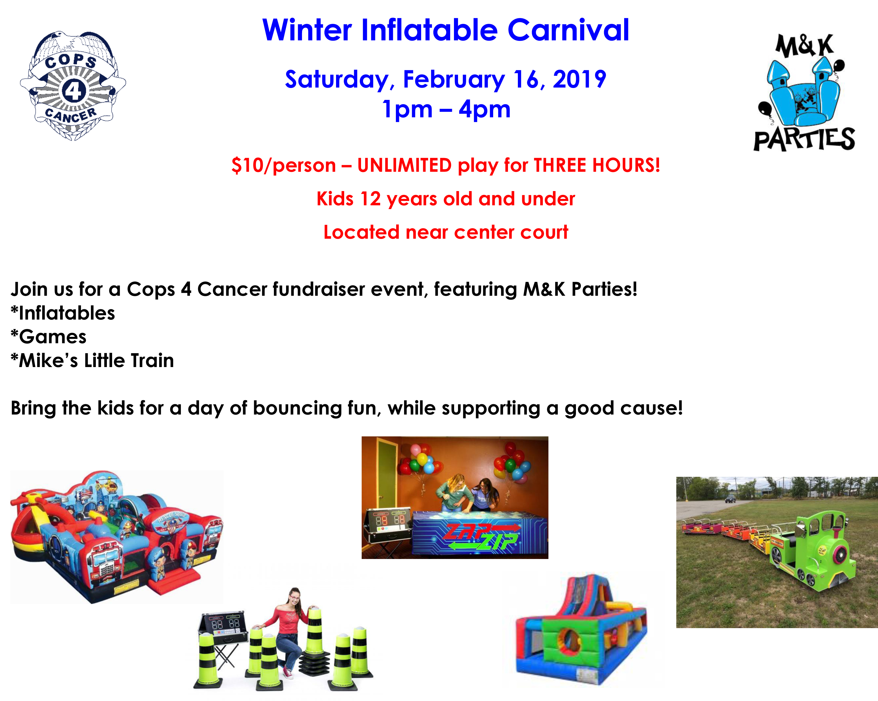 Winter inflatable carnival flyer