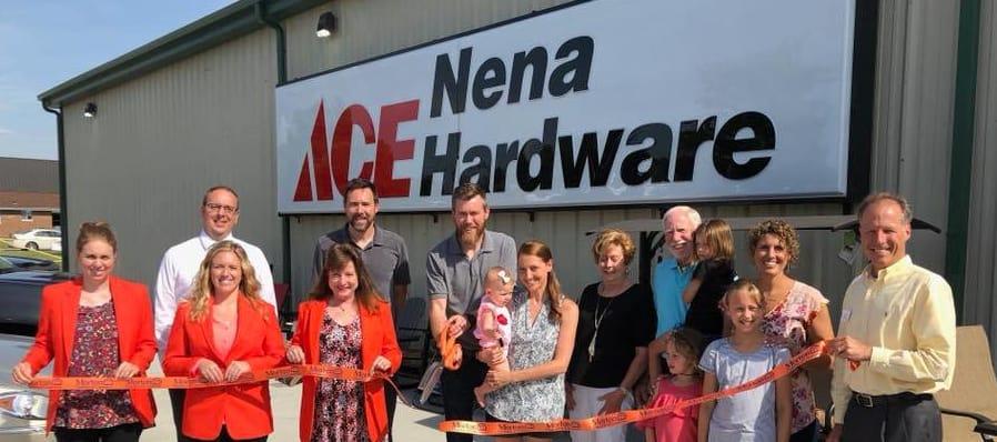 Nena Hardware ribbon cutting central Illinois Morton
