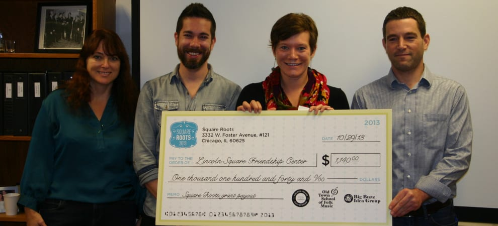 Square Roots Volunteer Grant Program Recipient
