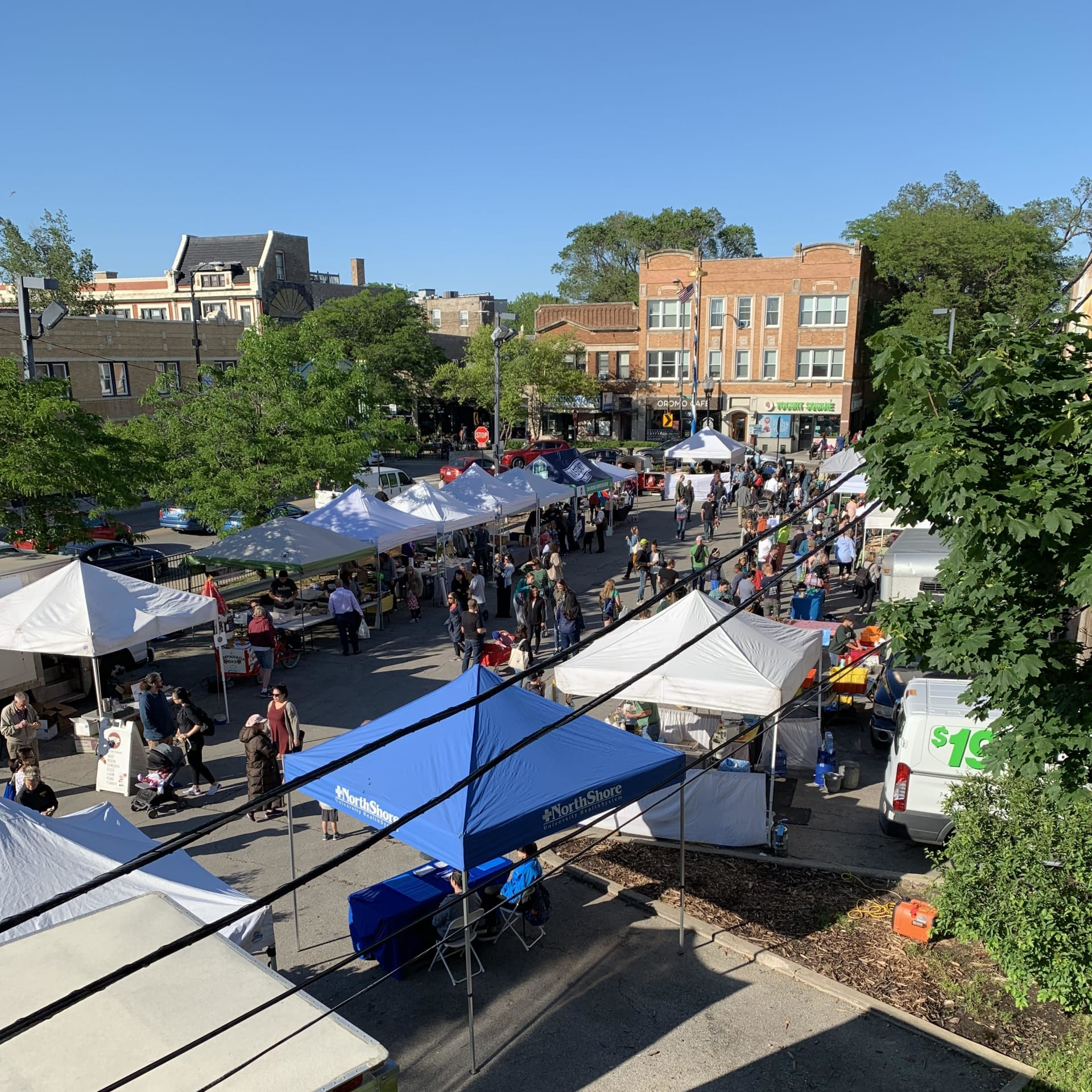 Lincoln Square Farmers Market Aerial