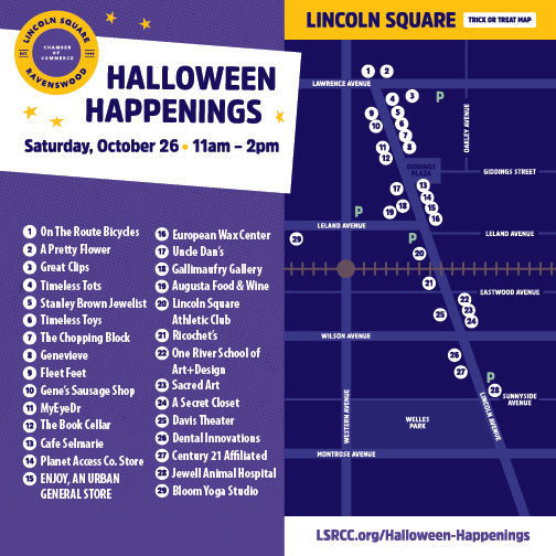 Halloween Happenings Lincoln Square Route Map