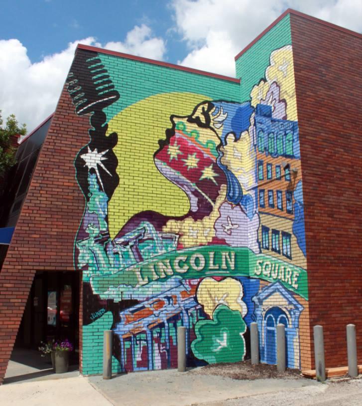 Lincoln Square Mural - The Announcement