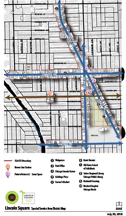 SSA 21 - Lincoln Square District Map