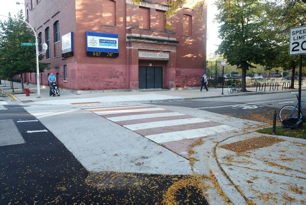 School/Roscoe Greenways Raised Crosswalk