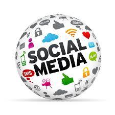 link to social media globe