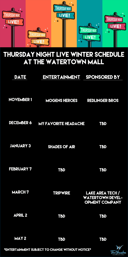 Thursday Night Live Winter Schedule