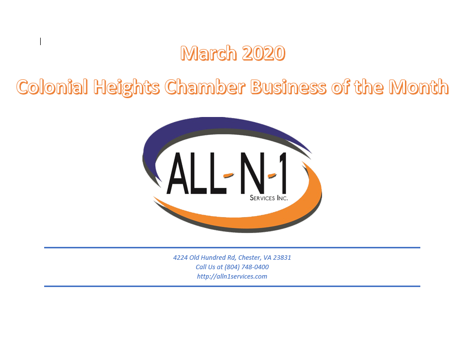 All In 1 Services Business of the month