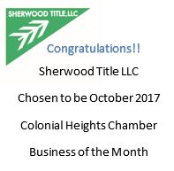 Sherwood Title October 2017 Business of the Month