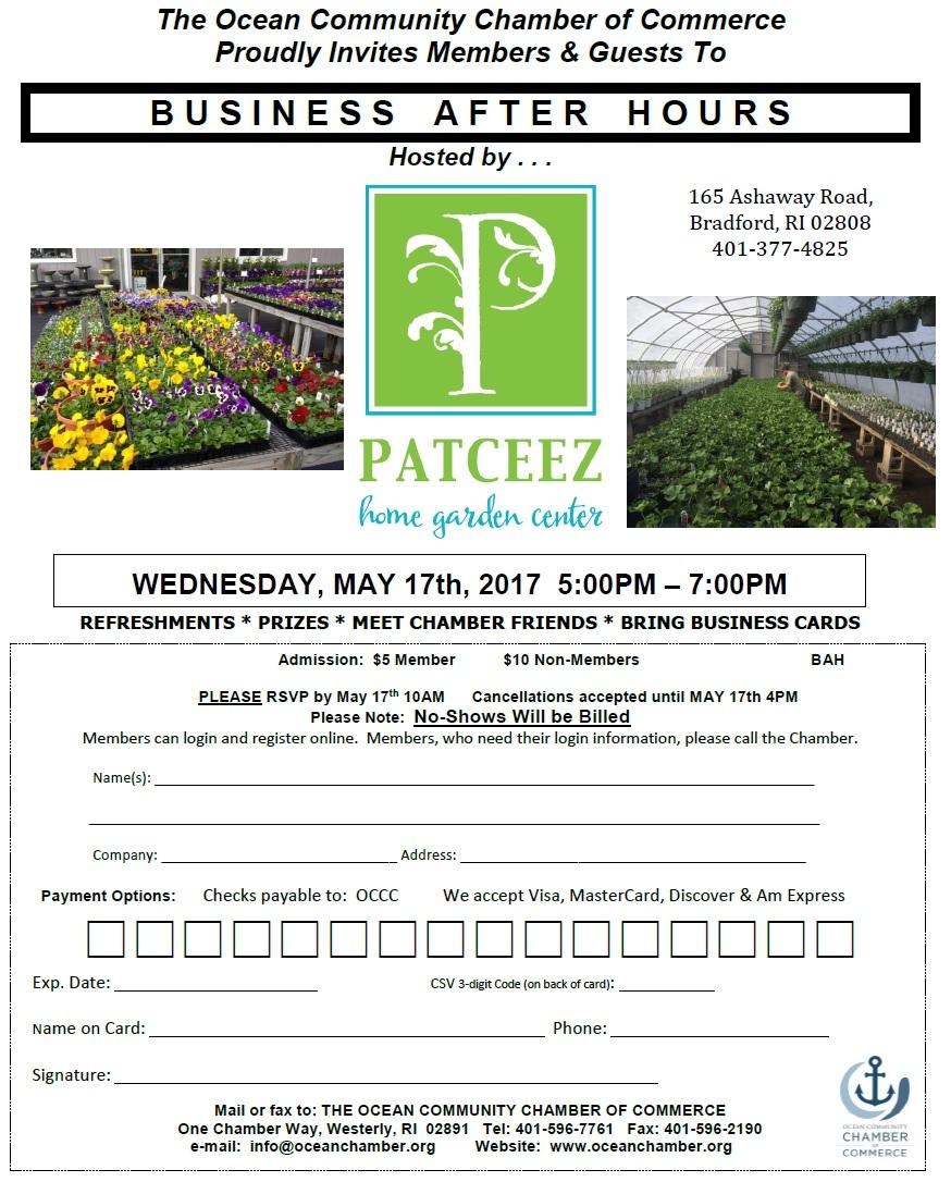 Bricks Garden Center Quakertown Hours : Business after hours patceez home garden center may