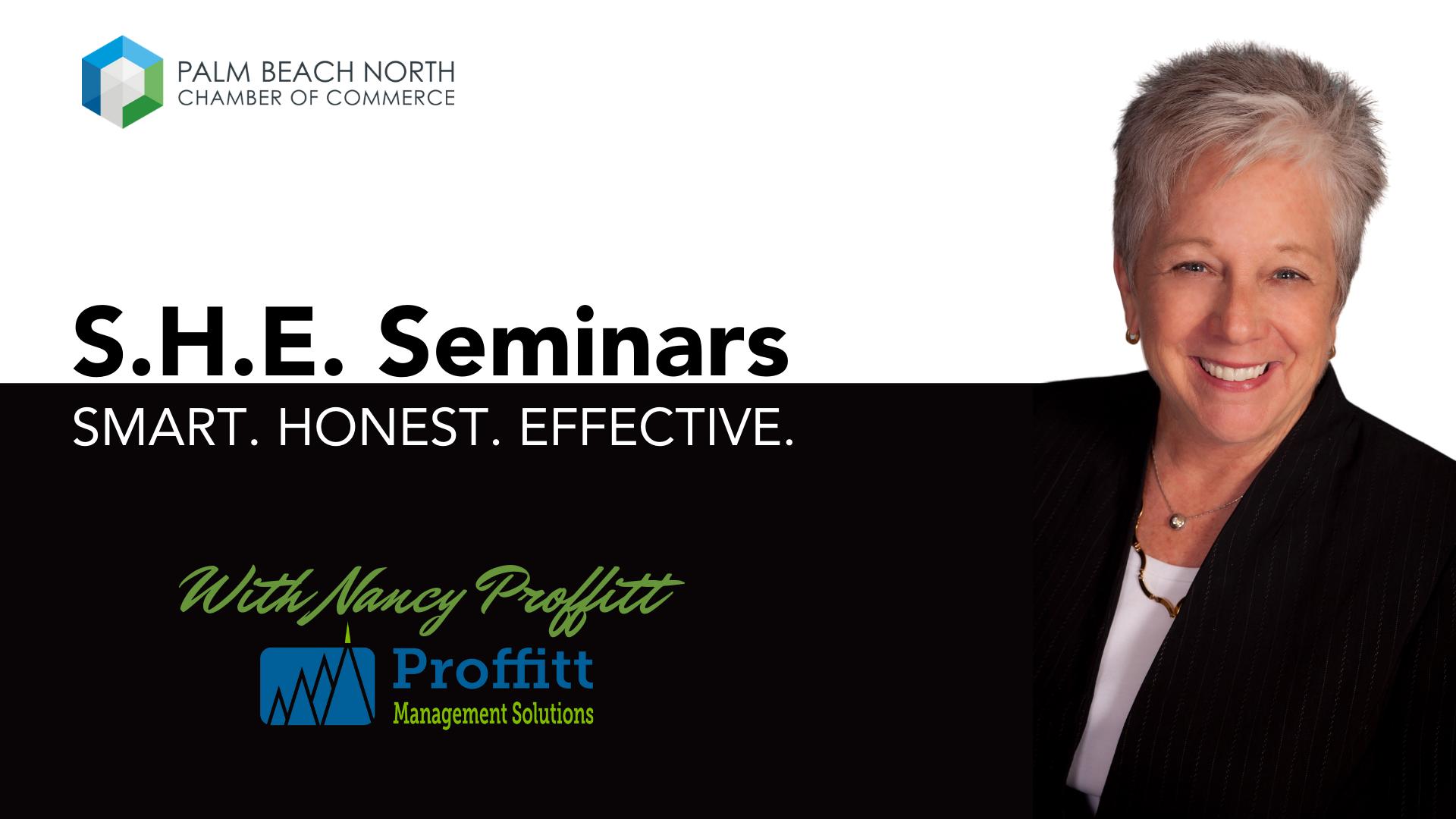 S.H.E. Seminars - Smart. Honest. Effective.