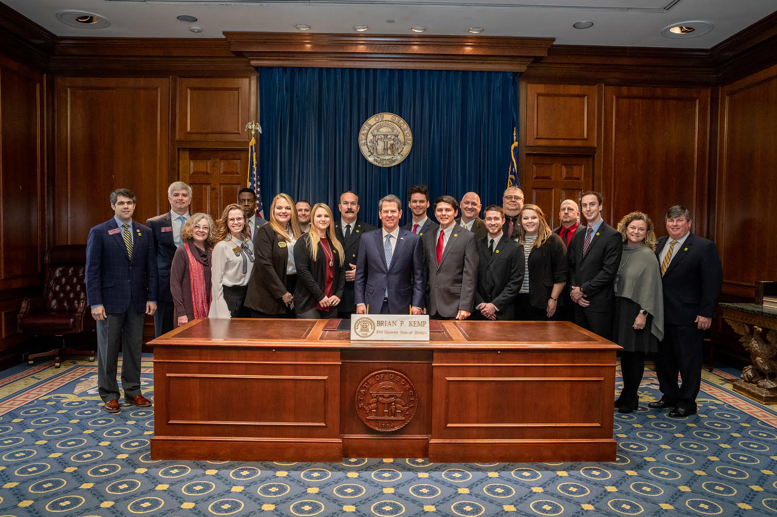 Governor Deal with Perry Leadership Institute Class of 2019
