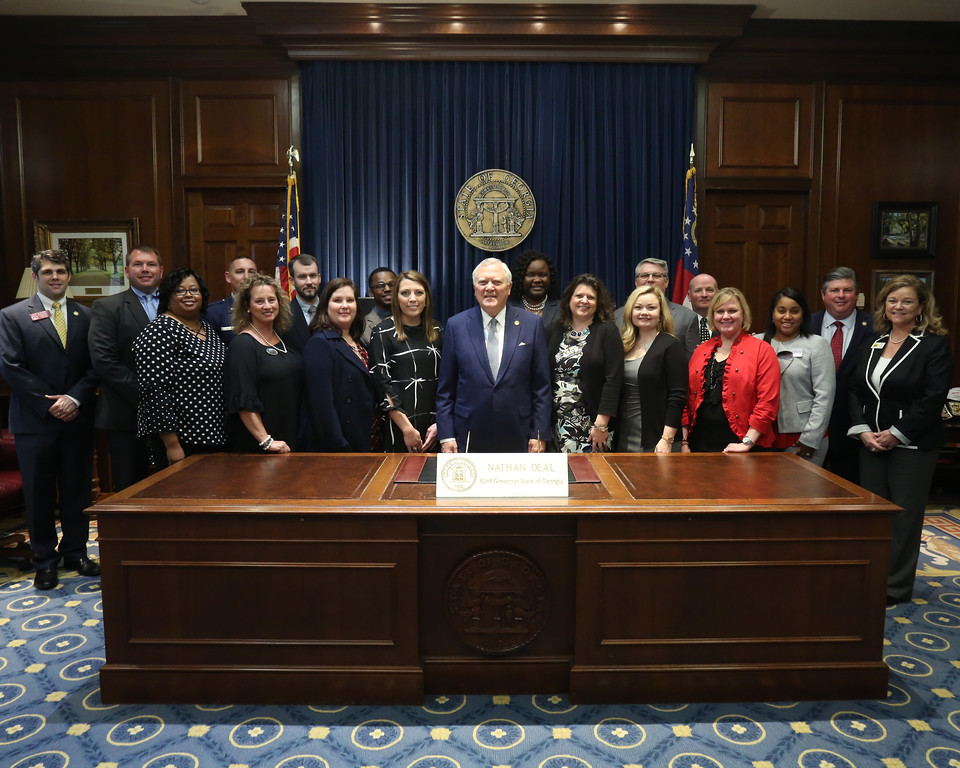 Governor Deal with Perry Leadership Institute Class of 2018
