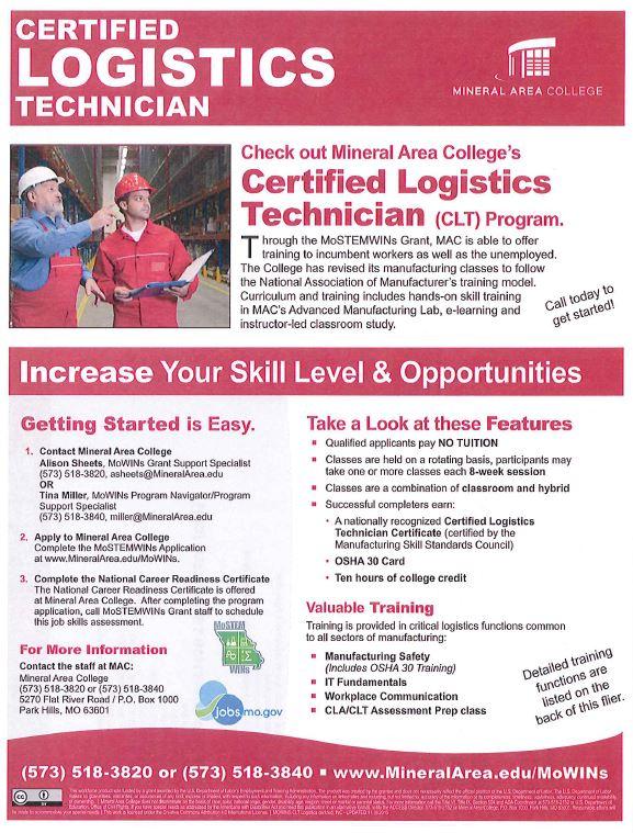 Certified Logistics Technician Program - News   Farmington Regional ...