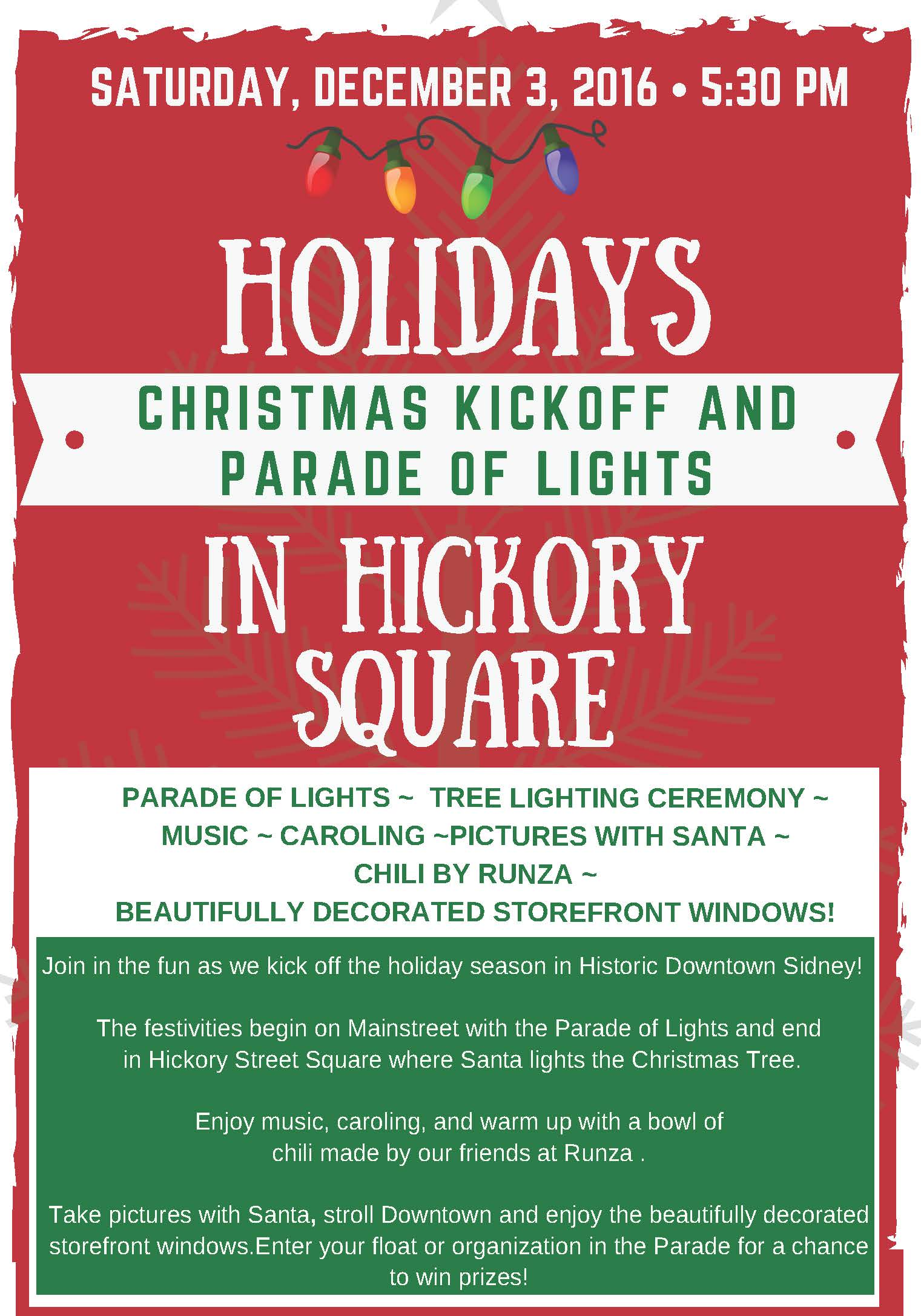 Parade of Lights Entry Form