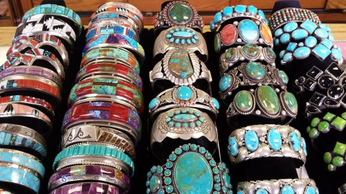 rows of Native American Bracelets