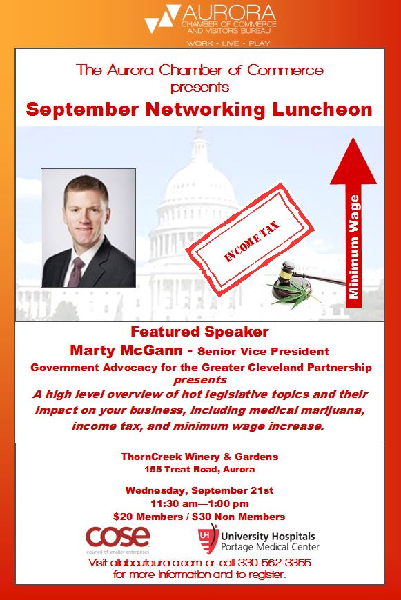 2016 September Networking Luncheon - Sep 21, 2016 - Aurora ...