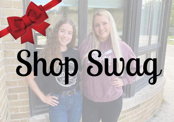 Two Girls Wearing Shop Local Georgina T-Shirts And Georgina Swag Hoodie