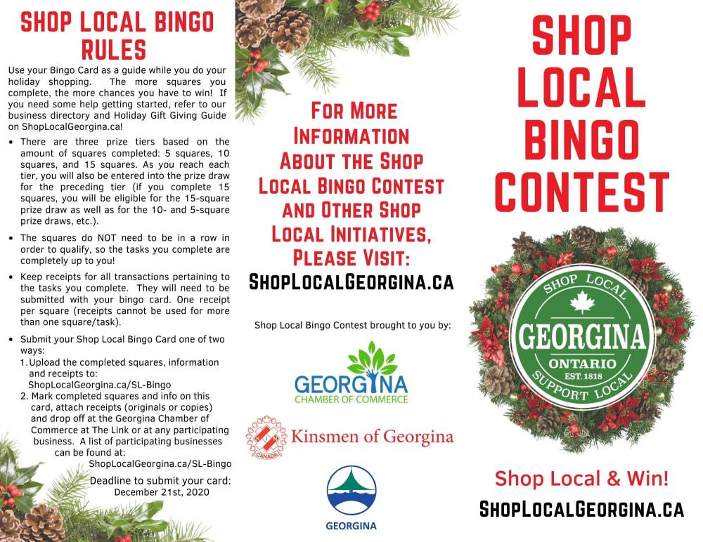 Shop Local Bingo Contest 1/2