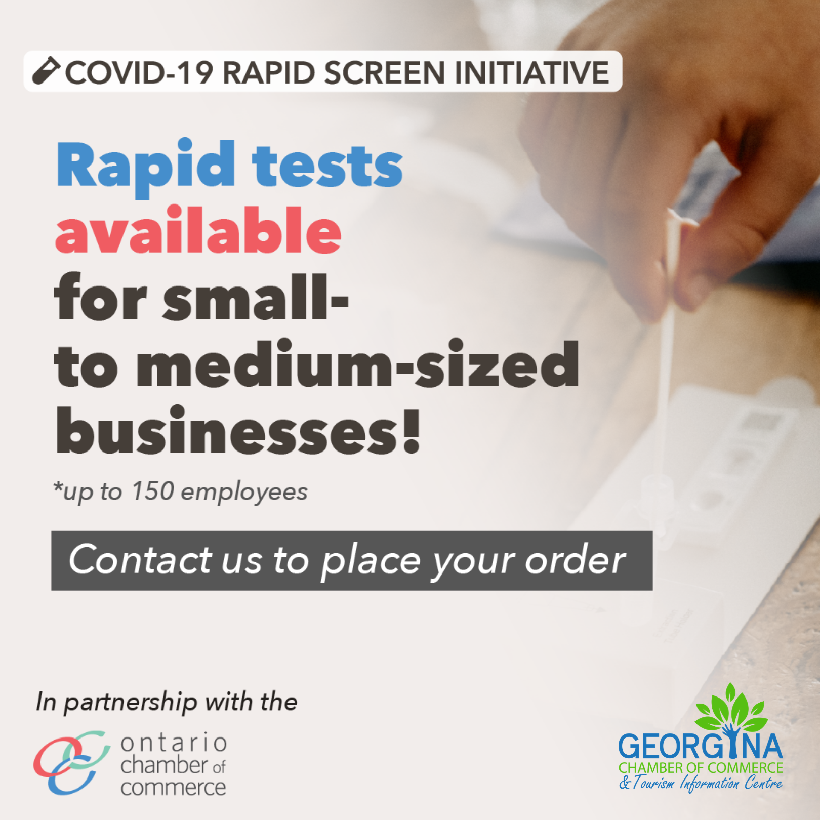 Rapid Testing Available for All Small and Medium Sized Businesses