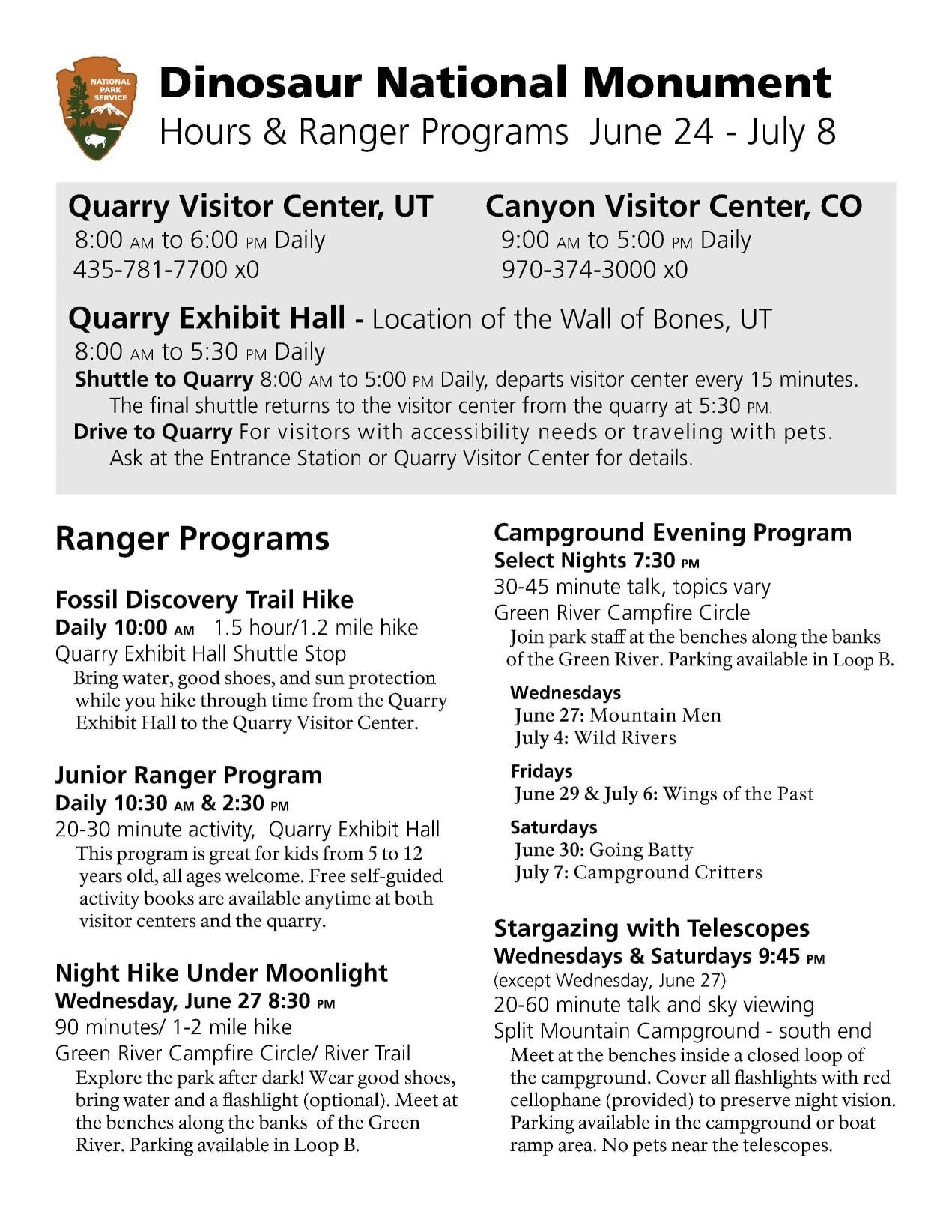 Dinosaur_National_Monument_Hours_Ranger_Program