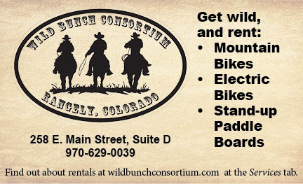 Wild bunch logo with physical address and web address.