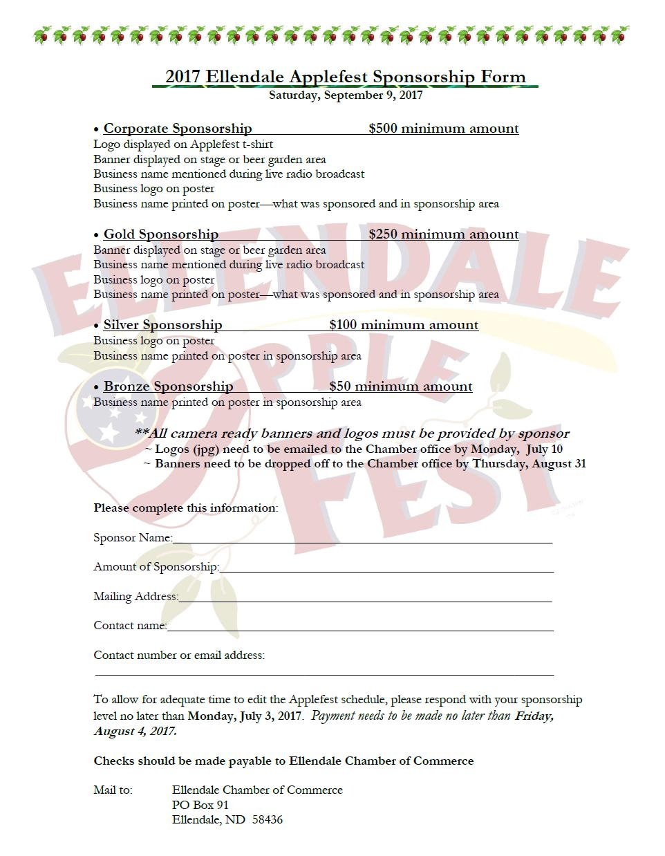 2017 Applefest form