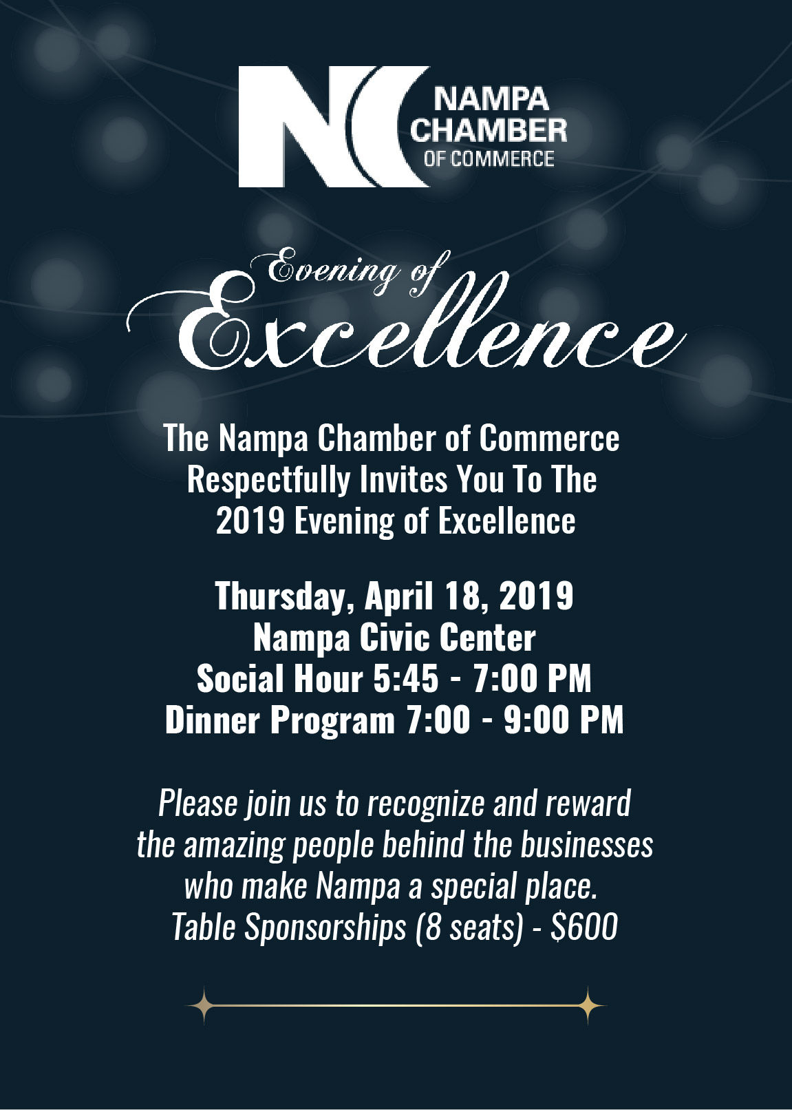 Evening of Excellence Raffle Ticket 2017