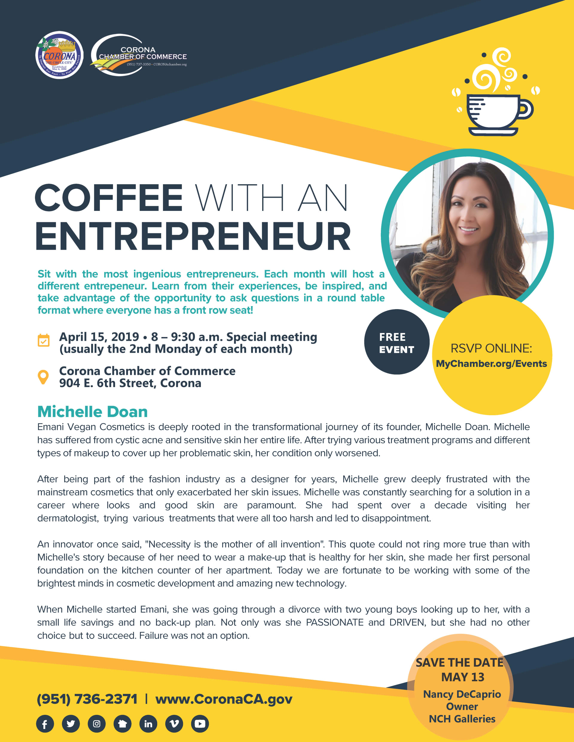Coffee with an Entrepreneur April 15