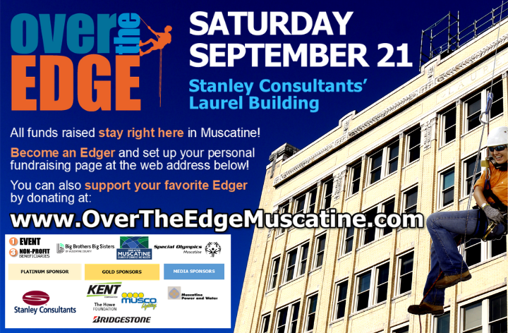 Over The Edge Muscatine Poster