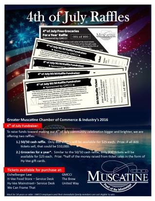 4th of July 2016 raffle ticket info