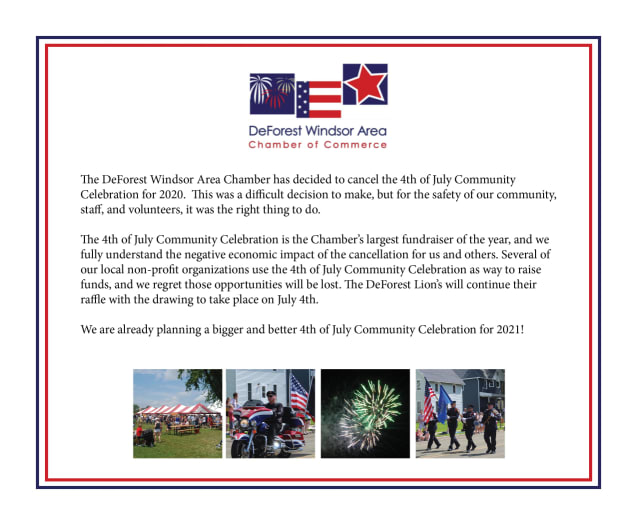 Chamber 4th of July 2020 Cancelled