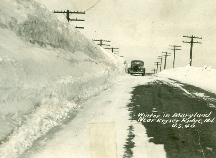 Historical Winter Photo in Garrett County