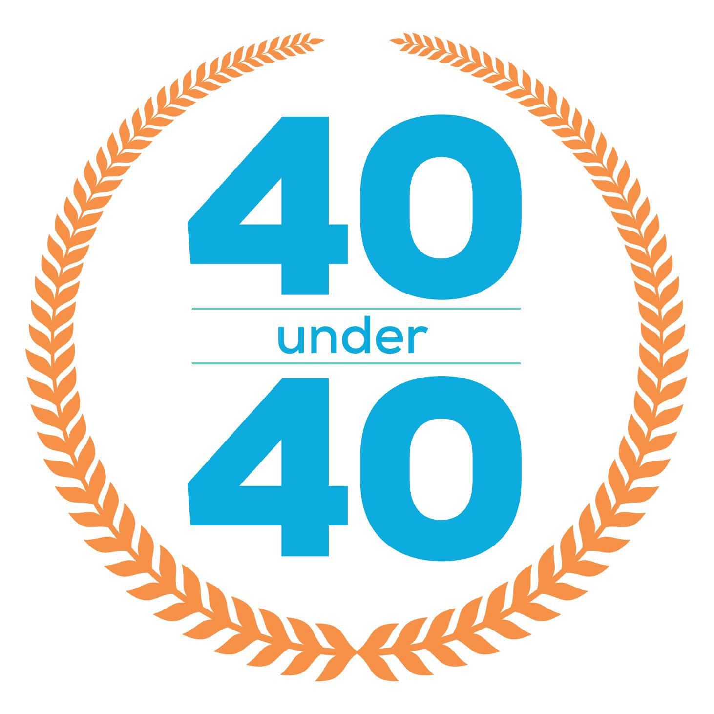 40 Under 40 event logo