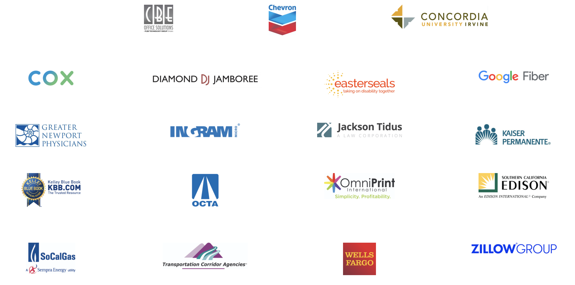 Business Outlook 2021 - event sponsors logo block
