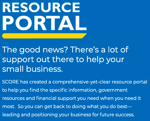 SCORE Resource Portal for Small Businesses