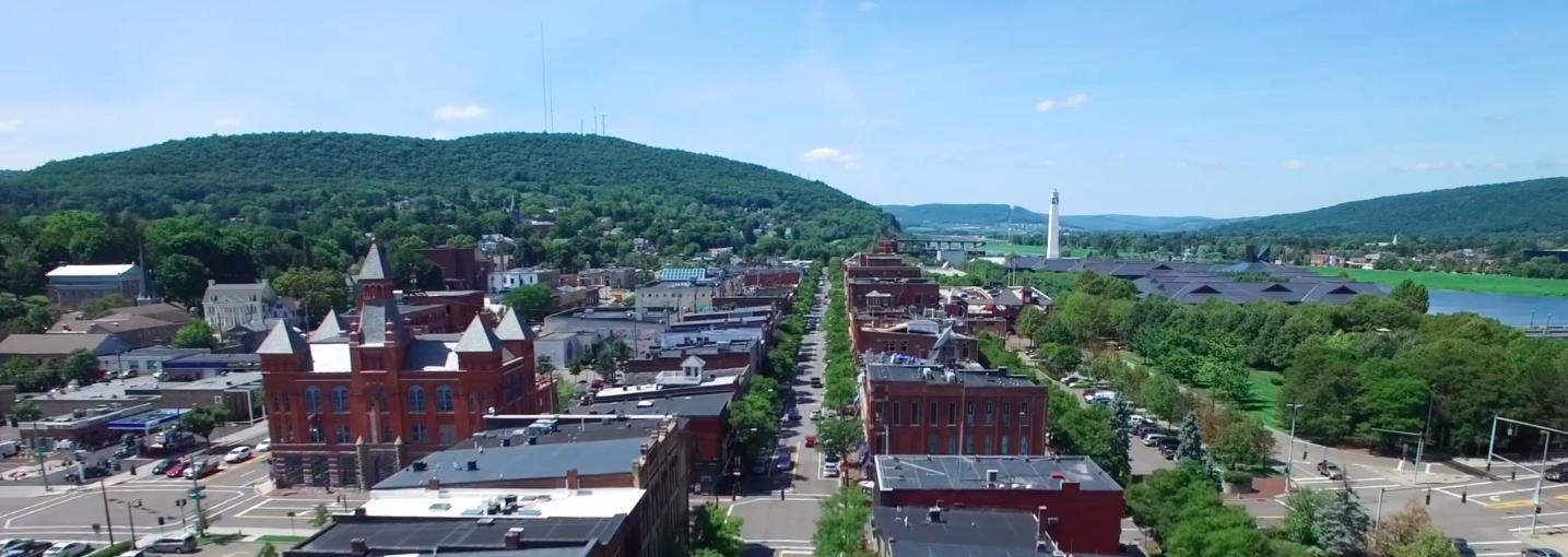 Aerial View of Corning NY